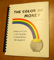 how to budget with Color of Money - your personal one-year plan and record book